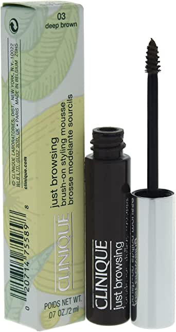 Clinique Just Browsing Brush-On Styling Mousse, #03 Deep Brown, 2ml