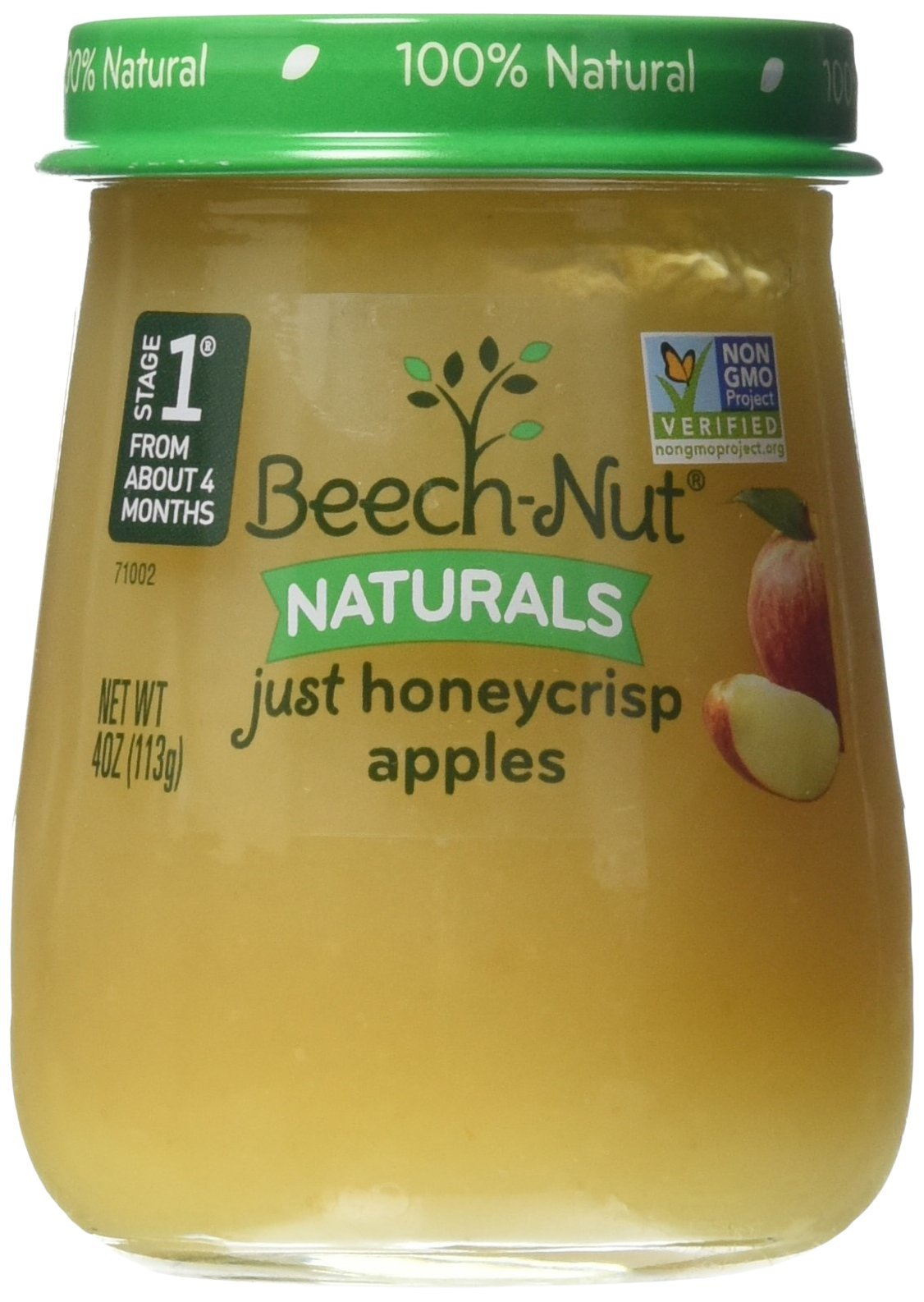 Beech-Nut Stage 1 Just Honeycrisp Apple Baby Food, 4 Ounce (Pack of 10)