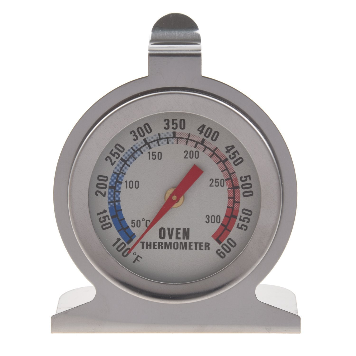 SODIAL(R) Stainless Steel Oven Thermometer - Hang Or Stand In Oven