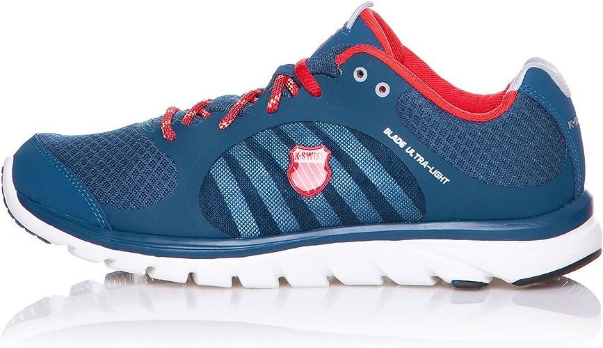 k-swiss Zapatillas Running Blade-Ultra Light Azul Oscuro/Rojo EU 45: Amazon.es: Zapatos y complementos