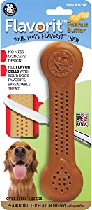 Pet Qwerks Flavorit Flavor Infused Nylon Chew Toy - Fillable Cells for Spreads, Durable Tough Toys for Aggressive Chewers | Made in USA with FDA Compliant Nylon