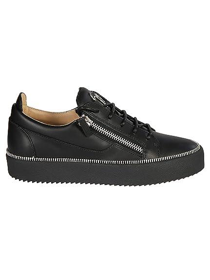 c6f9ede5ddf Giuseppe Zanotti Design Hombre RU80062001 Negro Cuero Zapatos  Amazon.es   Zapatos y complementos