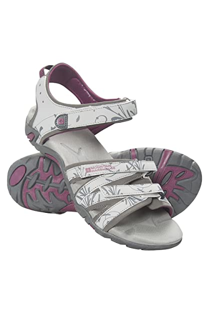 Mountain Warehouse Santorini Damen-Sandalen - Damenschuhe mit verstellbaren Riemen und gepolsterter Innensohle, Gummi-Laufsoh