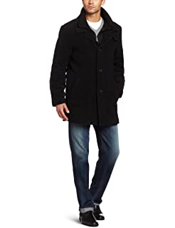 cb02fcae90b27e Calvin Klein Men's Slim Fit Wool Blend Overcoat Jacket at Amazon ...