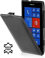 StilGut UltraSlim Case, housse en cuir véritable pour Nokia Lumia 520, Noir