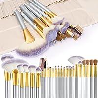 Makeupborstar, VANDER 24 st sminkborstset professionella sminkborstar pulver kräm flytande foundation ögonskugga…