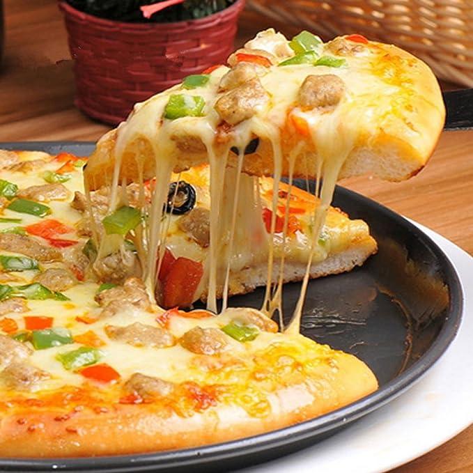 Amazon.com: kslong 2pcs Cocina Metal de plato para Pizza ...