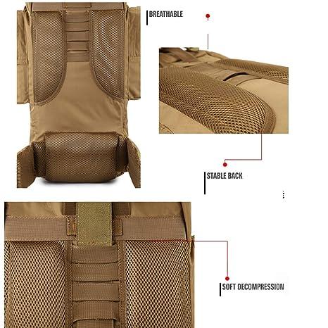 16 Inches Xionghaizi Duffel Bag,Canvas Backpack Portable Handbag Color : Khaki Travel Essential Brown Waterproof