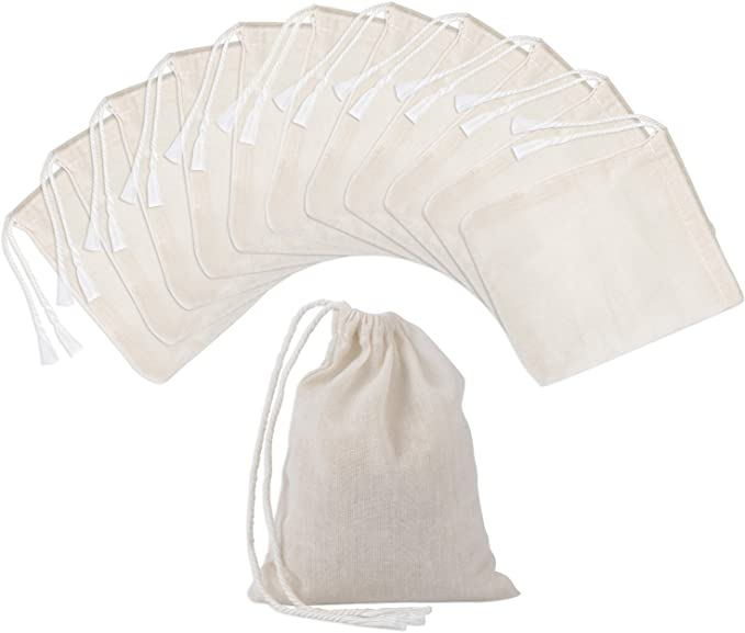 100 and 200 Breathable Bags- 3x5 Inches Yellow Drawstring made with Thin Cotton Fabric 25 Available in quantities of 1 50 10