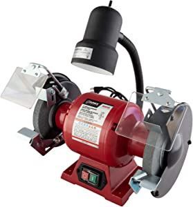 """Sunex Tools (5001A) 6"""" Bench Grinder with Light"""