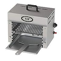 Beefer silber Edelstahl XXL Steakerhitzer Balkon 928 Grad ✔ eckig ✔ Grillen mit Gas Infrarot Oberhitze ✔ für den Tisch