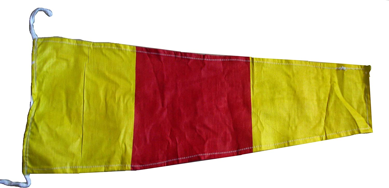 "100/% Cotton – Marine Code 2nd 15/"" X 8/"" Naval Signal Flag // Pennant"