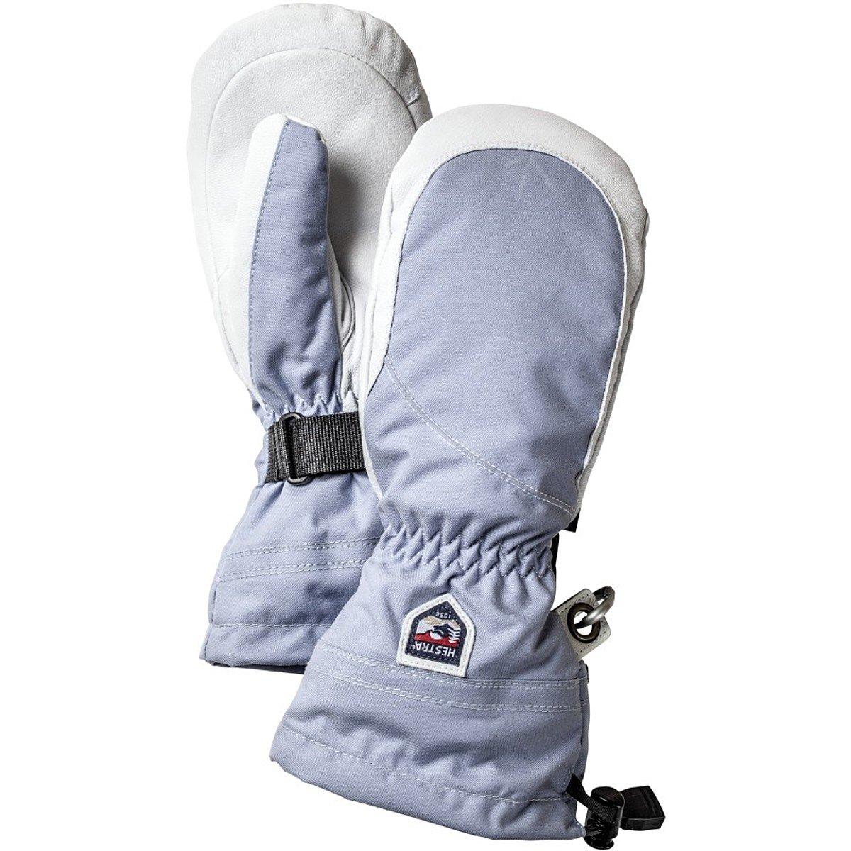 Hestra Gloves 30611 Women's Heli Mitt, Ice Blue/Offwhite - 6
