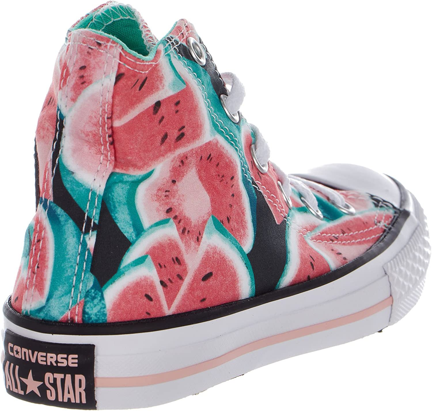 Hi Little Kid//Big Kid White//Pink Pow//White Girls Shoes Converse Kids Chuck Taylor All Star Winter Graphic