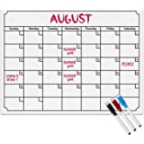 Magnetic Fridge Calendar, Magnet Monthly Calendar with Large Whiteboard Planner, Dry Erase Refrigerator Whiteboard Menu Planner for Kitchen, Easy to Write & Wipe (White)