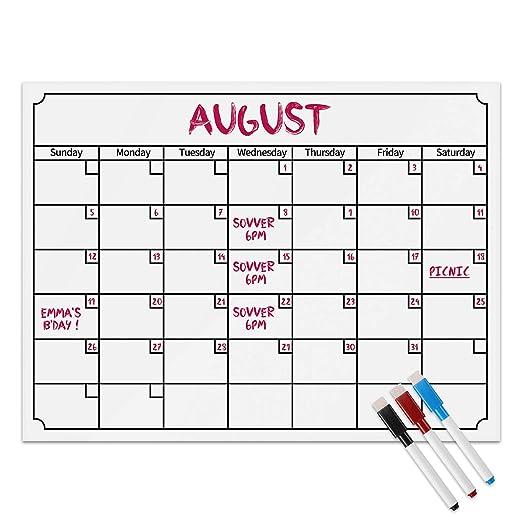 Frontoppy Calendario Magnético Mensual, Recordatorio Semanal y ...