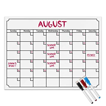Magnetic Fridge Calendar Powstro Magnet Monthly Calendar With Large