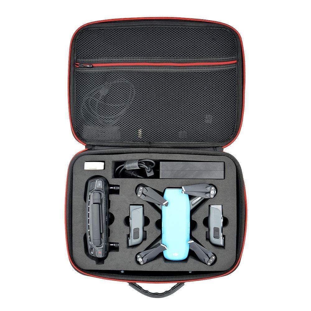 Tragbare Wasserdichte Tasche Schutz Aufbewahrungsbox PU Carbon Faser, der Fall Zubehör für DJI Spark Drone outopen