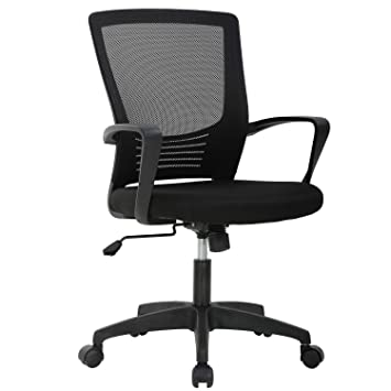 Admirable Ergonomic Office Chair Desk Chair Mesh Computer Chair With Lumbar Support Arms Modern Cute Swivel Rolling Task Mid Back Executive Chair For Women Men Gmtry Best Dining Table And Chair Ideas Images Gmtryco