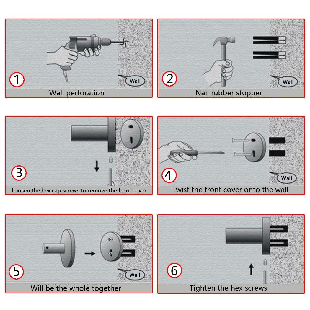 PHOEWON Handtuchstange Edelstahl Multifunktion Handtuchstangen Bad Wand Handtuchhalter mit Haken f/ür Badezimmer K/üche