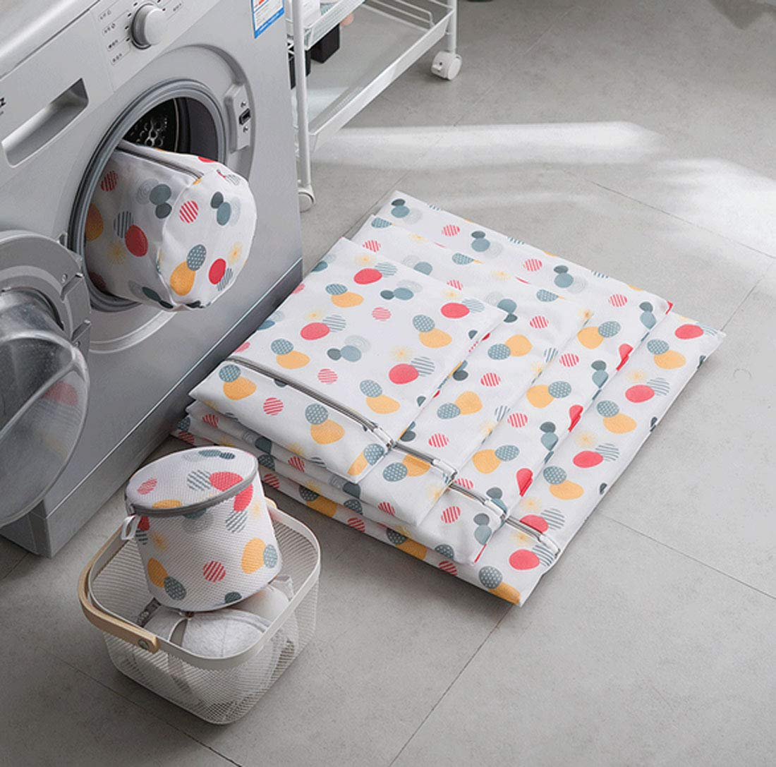 Xinyanmy 6 St/ück W/äschesack W/äschebeutel aus Netzstoff Set mit Rei/ßverschlu/ß f/ür Waschmaschine ideal f/ür BHs,Unterw/äsche,Socken,Babysachen,Hemd,Strickwaren