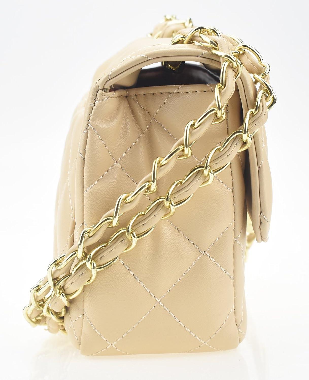 Covelin Women s Leather Fashion Handbag Quilting Envelope Cross Body  Shoulder Bag 7f65fc969d21b