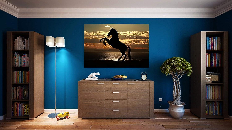 Wayshop | Cuadro Caballo Rampante | Fabricado en PVC Forex 5 MM | Medidas 100 cm x 70 cm | Fácil colocación | Diseño Elegante | Impresión Digital (1 Unidad)