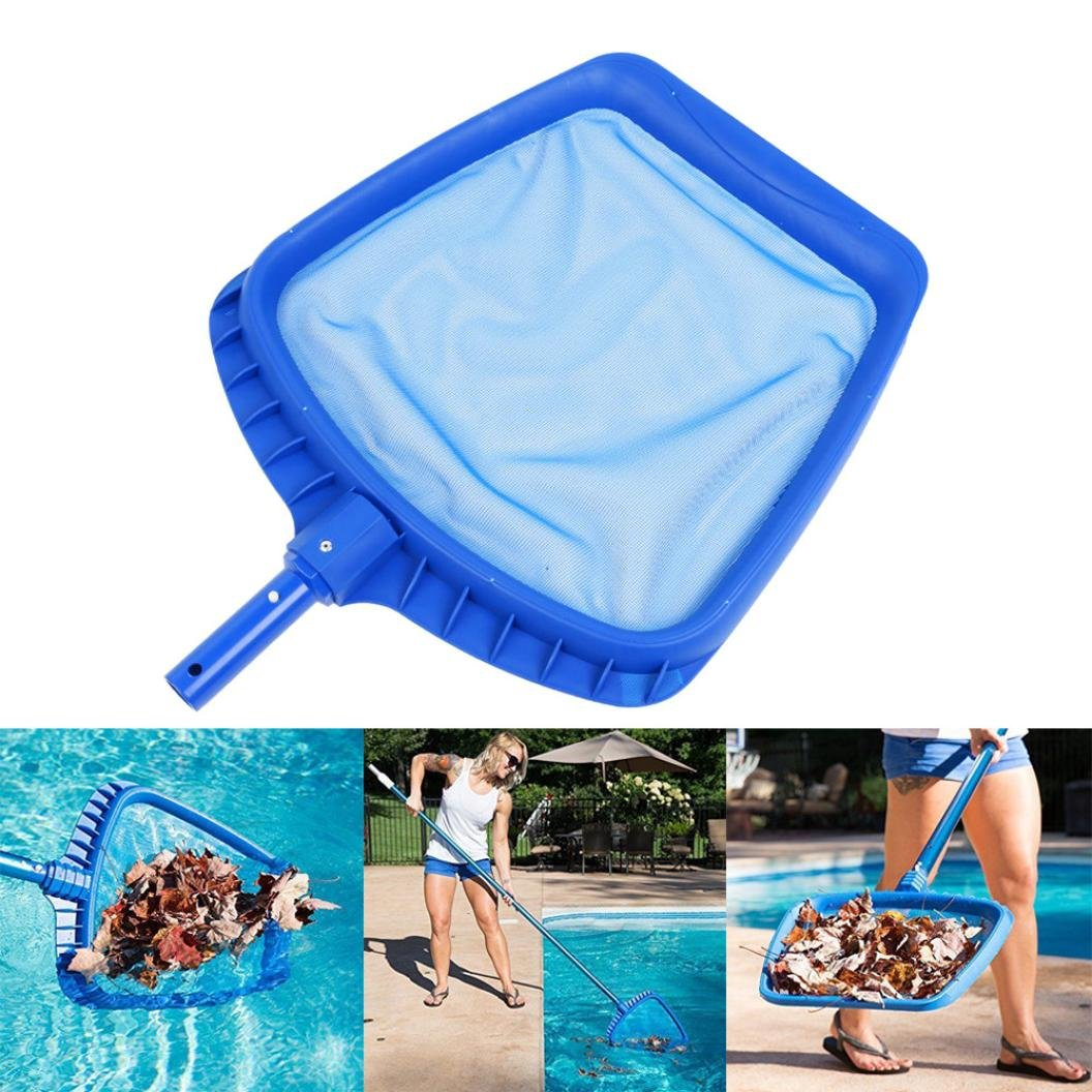 Swimming Pool Skimmer Net, Professional Leaf Rake Mesh Frame Net Skimmer Cleaner Swimming Pool Spa Tool, Pool Maintenance Kits Patio, Lawn & Garden, Hot Tubs Supplies Cleaning Tools (Blue) (Blue)