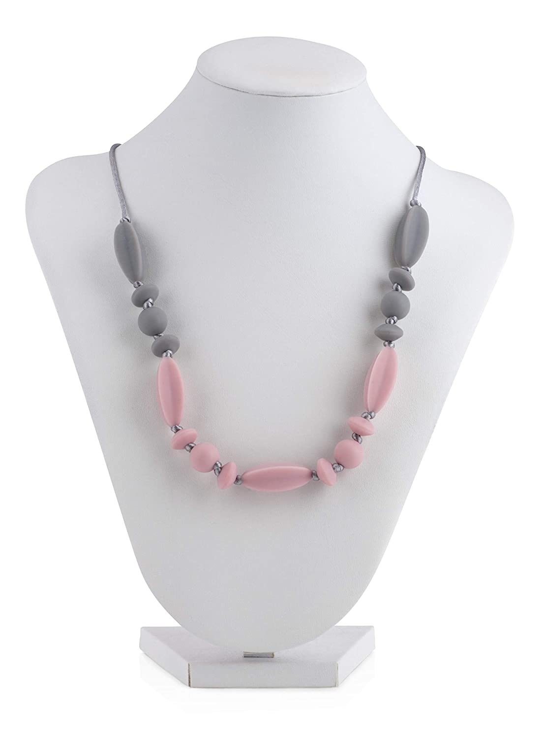 Nuby Baby Teething Trends Necklace with Beads & Wooden Pendant