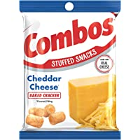 COMBOS Cheddar Cheese Cracker Baked Snacks 6.3-Ounce Bag