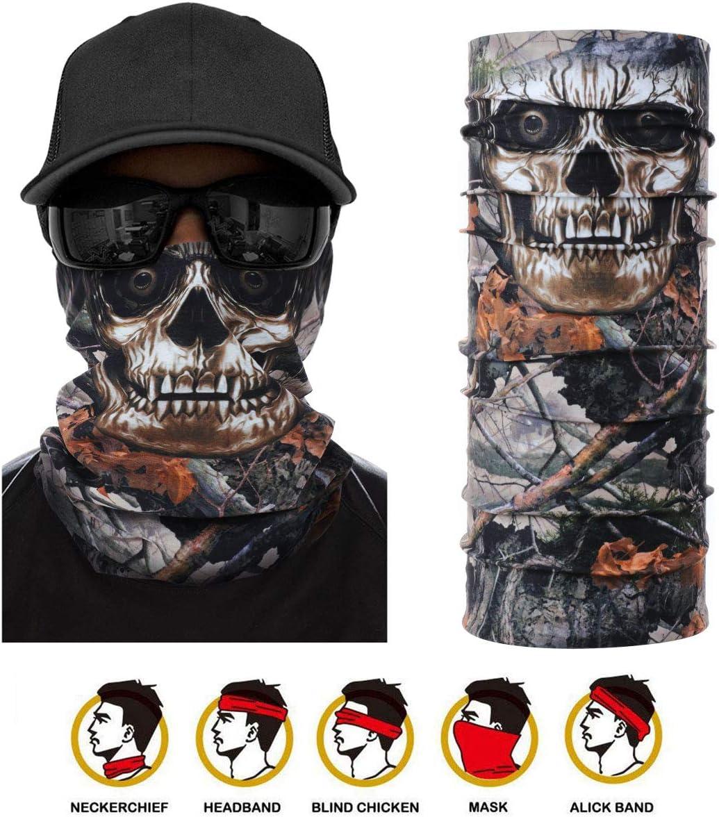 Seamless Bandana Headband Face Wraps 3D Outdoor UV Resistance Headwear Cycling Kordear Multifunction Tube Scarf Functional Balaclava Neck Warmer for Hiking