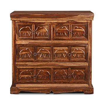 HomeTown 4-Drawer Chest (Walnut)