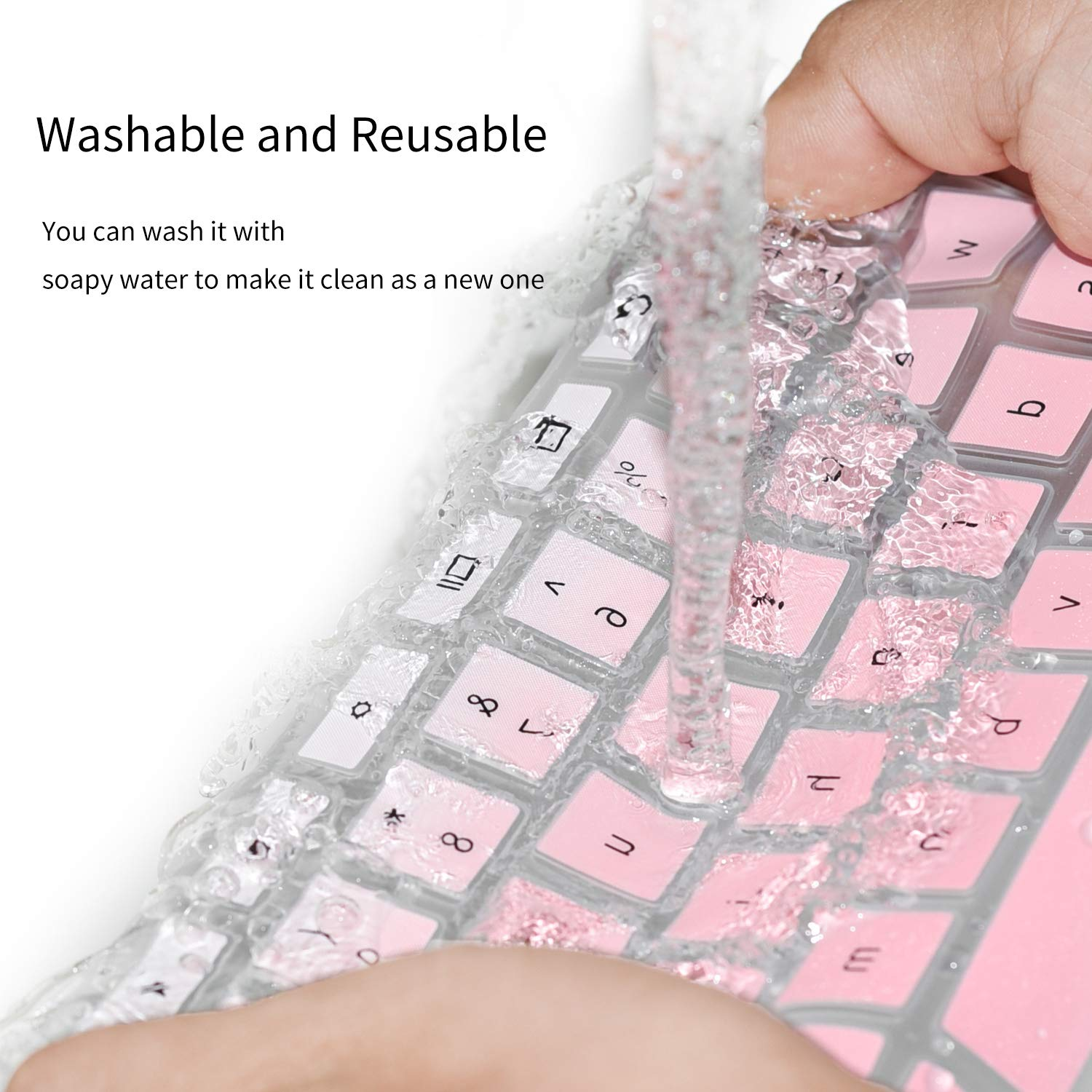 Ombre Pink CaseBuy Dell Latitude Keyboard Cover Skin 14 inch for Dell Latitude 3340 E3340 5480 5490 E5490 5491 E5491 E5450 E5470 E7450 E7470 7480 E7480 7490 Keyboard Protector Skin with Pointing