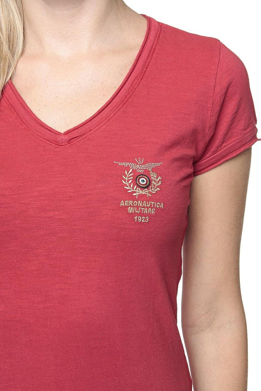 Aeronautica Militare Damen Shirt Logo-T-Shirt Isabella, Farbe: Rot, Größe:  XS: Amazon.de: Bekleidung