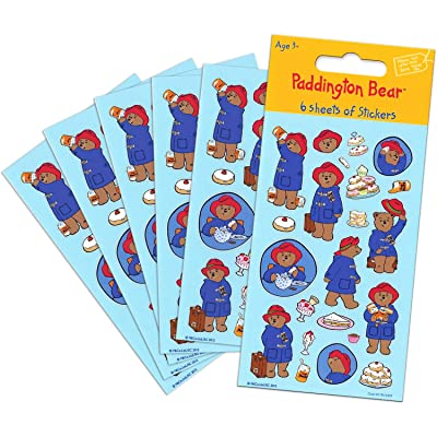 Paper Projects 01.70.15.027 Paddington Bear Party Size Sticker Pack (6 Sheets): Toys & Games