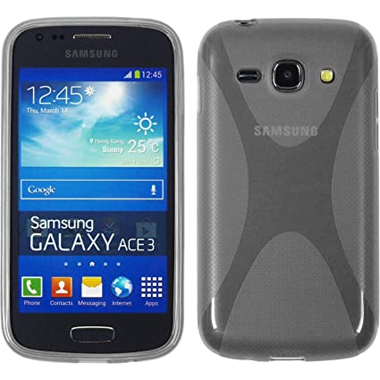 f52df89913e PhoneNatic Funda de silicona para Samsung Galaxy Ace 3 - X-Style gris -  Cover