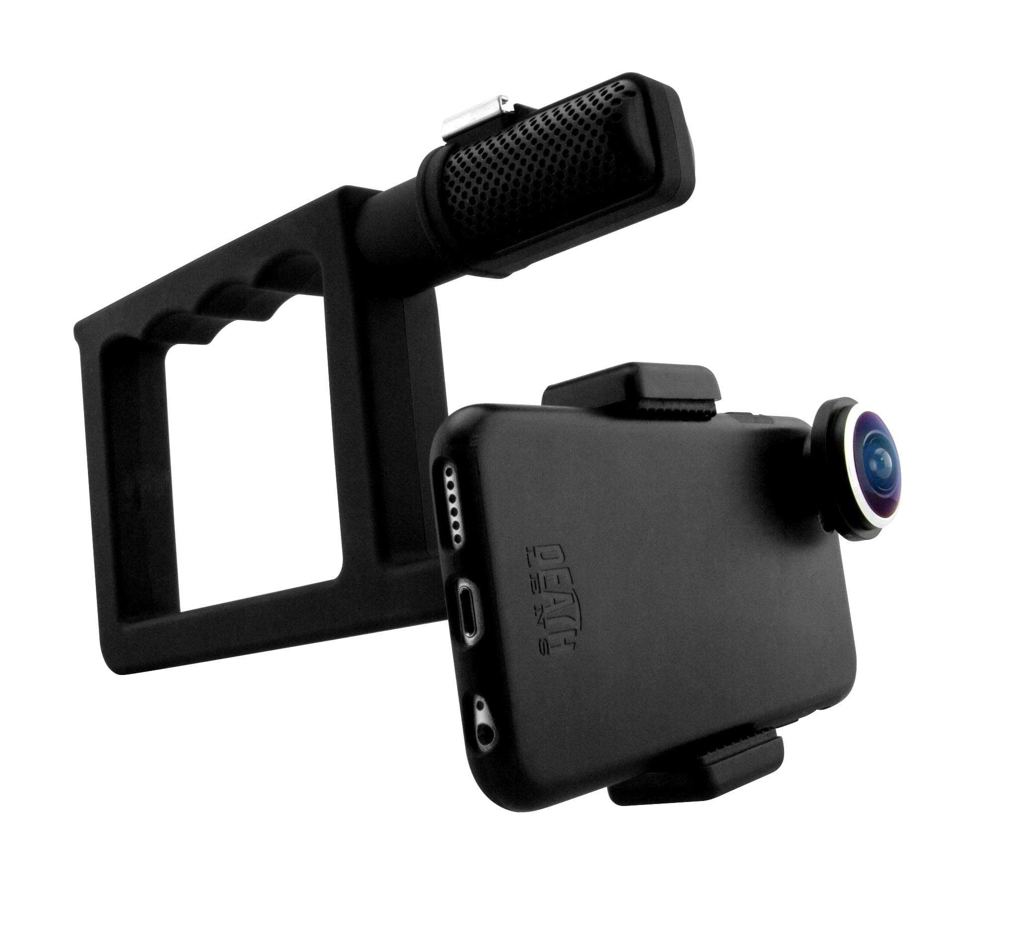 Death Lens Grip 2.0 VX Handle - Counter Balance - Stabilize footage, Go Pro Mount, Rubber Coated Grip, iPhone, Samsung Galaxy and Other Smartphones by DEATH LENS