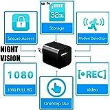 Night Vision Spy Camera Charger - Hidden Camera Adapter - Mini Spy Camera 1080p - USB Charger Camera - Hidden Spy Camera - Hidden Nanny Cam - Hidden Spy Cam with Infrared