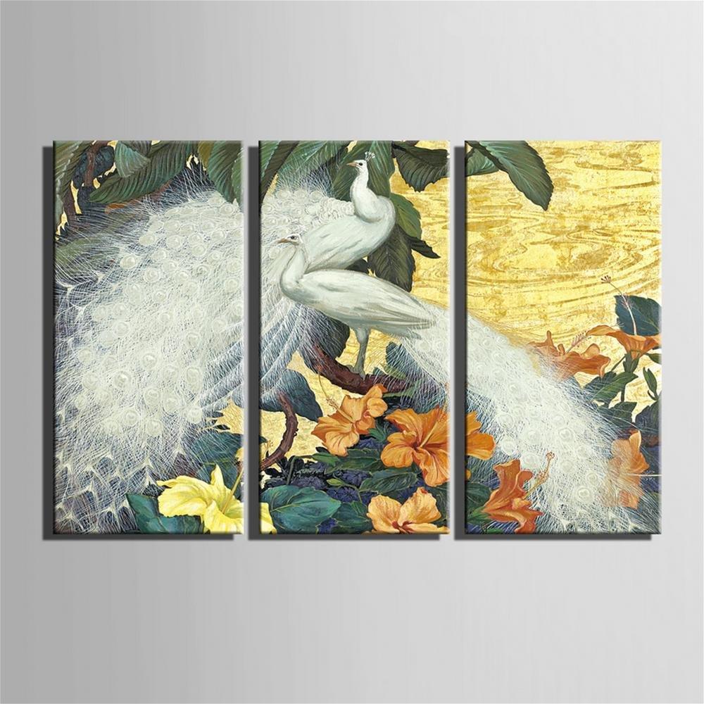 GaoRuiRuiL Weiße Pfau Dekorative Malerei, rahmenlose Gemälde, Wohnzimmer Wohnzimmer Wohnzimmer Gang Dekorative Malerei, 30  60  3 bfbea1