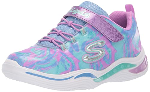 4ef9b534bf965 Skechers Girl's Power Petals-FLOWERSPARK Sneakers, Lavender/Multi, 1 M US  Little