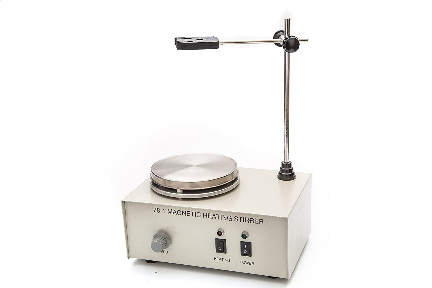 Fristaden Lab 78-1 Analog Magnetic Stirrer Hot Plate Mixer, 1,000mL, 0~2000RPM, 150W Heating Power 250°C Max Independently Controls Temperature and Speed