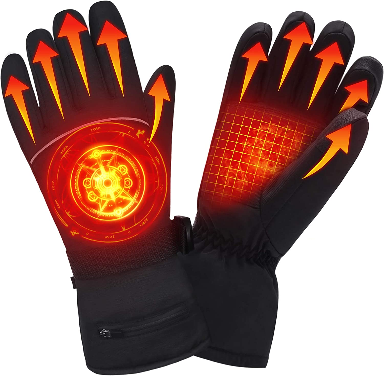 Heated Gloves/Winter Warm Gloves with Rechargeable Battery for Men /& Women Thermal Windproof Waterproof Insulated Gloves for/Motorcycle Skiing/Riding Climbing