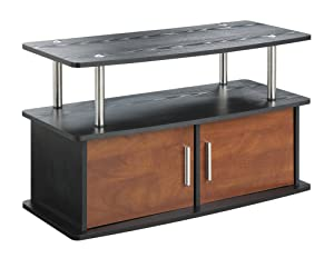 Convenience Concepts Designs2Go Deluxe 2 Door TV Stand with Cabinets, Cherry