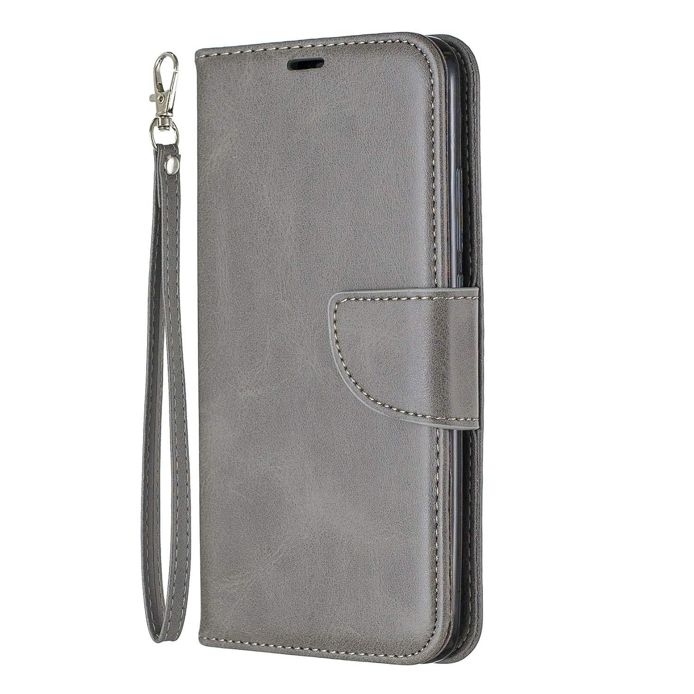Lomogo Xiaomi Redmi 7 / Y3 Case Leather Wallet Case with Kickstand Card Holder Shockproof Flip Case Cover for Xiaomi Redmi7 / Redmi Y3 - LOBFE150645 Grey