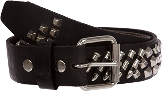 Bullet 69 Tan 1.5 Leather Belt Silver Buckle