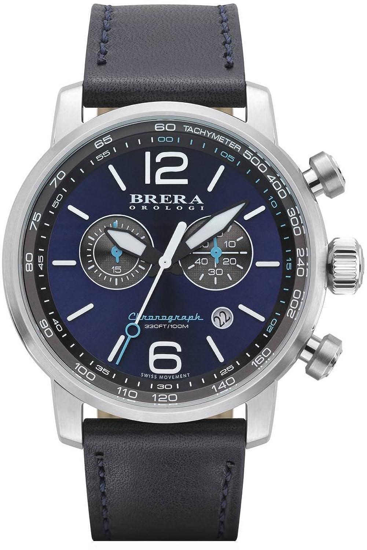 Brera Orologi Herren Chronograph Uhr - Dinamico silber