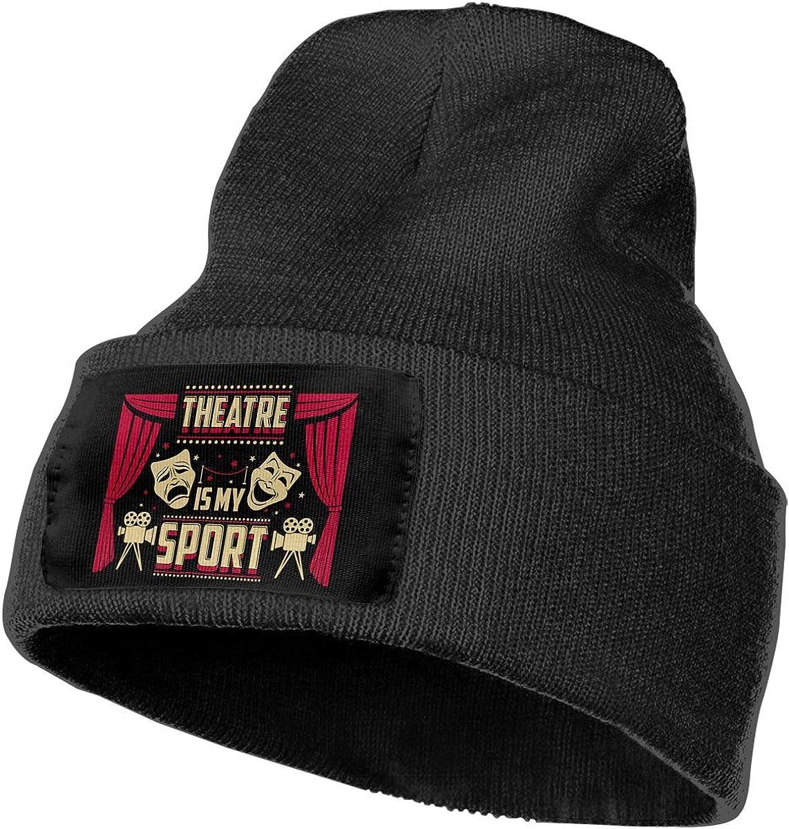 Feeke Mens/&Womens Theatre is My Sport Beanie Cap Thick,Soft,Warm Slouchy Knit Hat Winter Soft Ski Cap