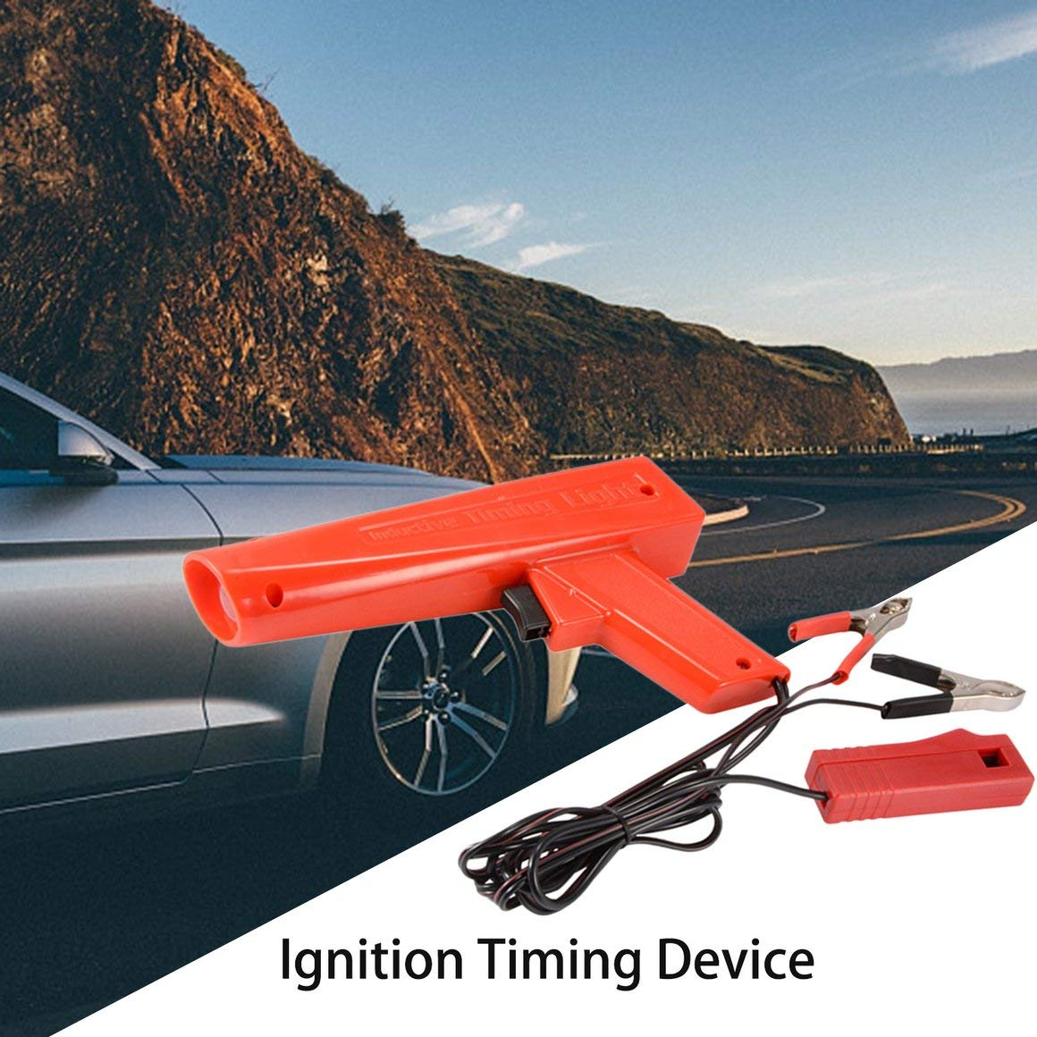Funnyrunstore 12V Professional Car Engine Engine Timing Light Accensione High Beam Timing Strobe Light Induttivo Timing Lamp Detector rosso