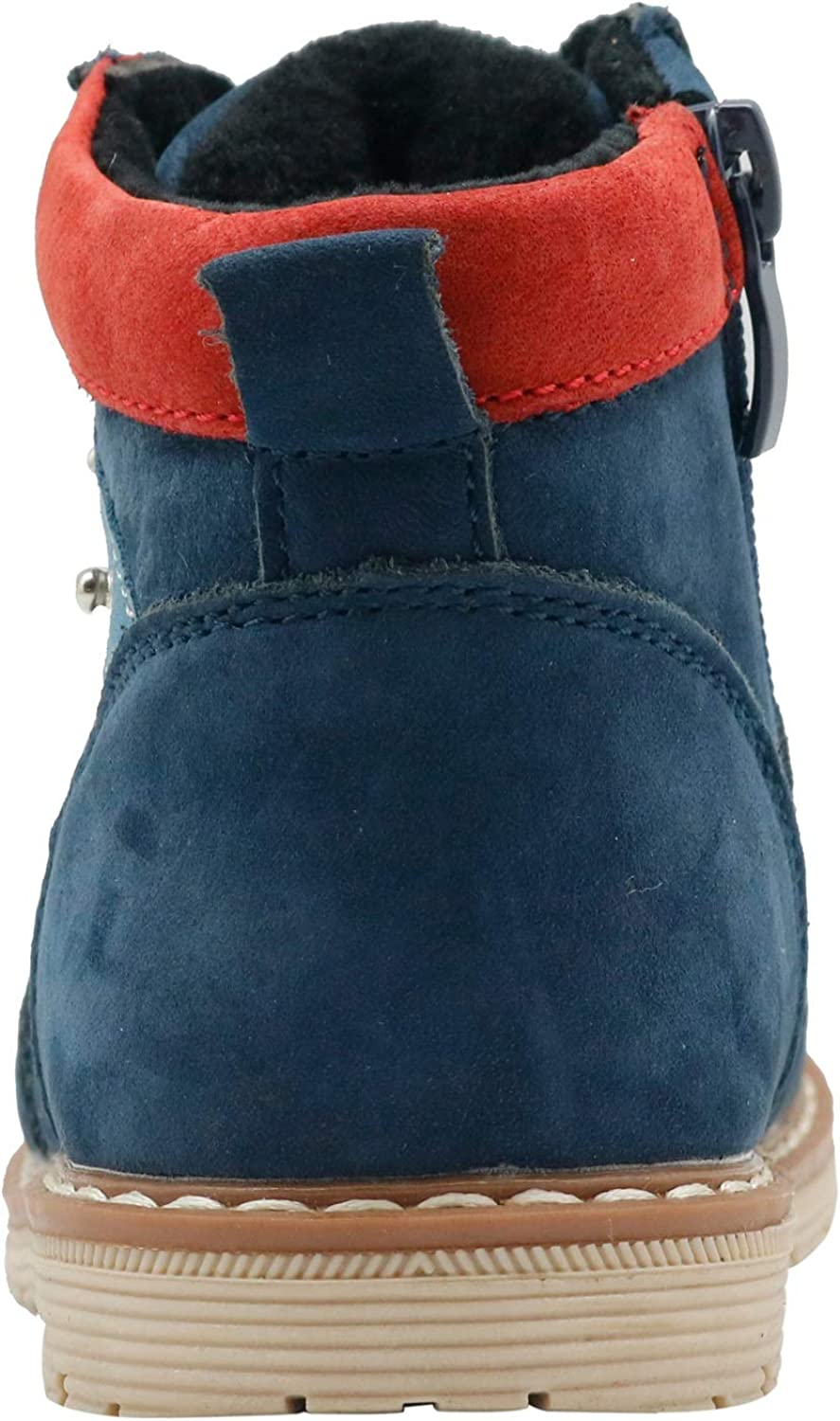 Apakowa Kids Toddler Boys Autumn Winter Suede Leather Boots