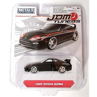 Jada 1:64 JDM Tuners 1995 Toyota Supra (Black) Diecast Car 30485-MJ: Toys & Games
